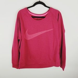 Nike dry fitlarge spell out logo sweatshirt large